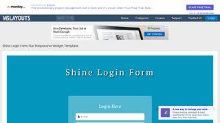 Shine Login Form Flat Responsive Widget Template - w3layouts.com