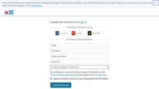 Sign in or Register | edX