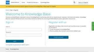 Sign or Register - American Express Global Network
