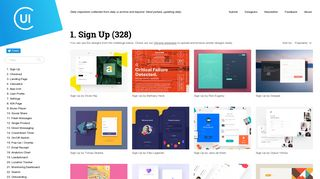 Sign Up - Collect UI - Daily inspiration collected from daily ui archive ...