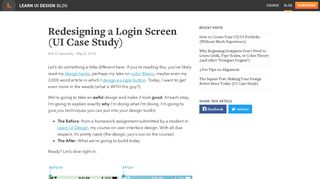 Redesigning a Login Screen (UI Case Study) – Learn UI Design