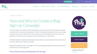 How and Why to Create a Blog Sign Up Campaign - Privy