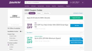 $10 Off DSW Coupons, Codes, Free Shipping, February 2019