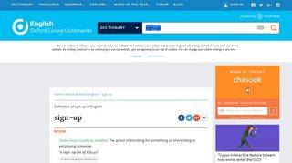 sign-up   Definition of sign-up in English by Oxford Dictionaries