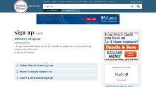 Sign Up   Definition of Sign Up by Merriam-Webster