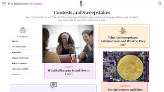 Online Sweepstakes, Contests and Giveaways - The Balance Everyday