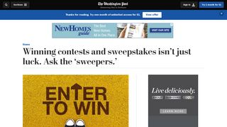 Winning contests and sweepstakes isn't just luck. Ask the 'sweepers ...