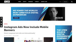 Instagram Ads Now Include Mobile Banners – Adweek