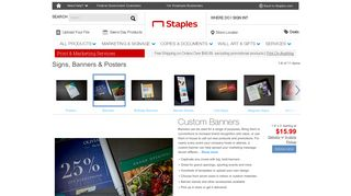 Custom Banners | Banner Printing | Staples®
