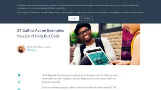 31 Call-to-Action Examples You Can't Help But Click - HubSpot Blog