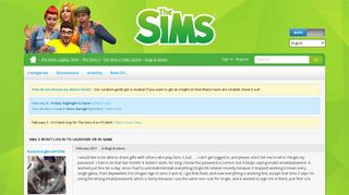 Sims 3 won't log in to launcher or in game — The Sims Forums