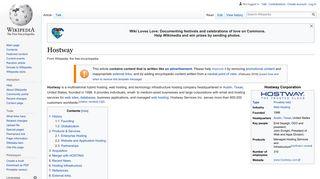 Hostway - Wikipedia