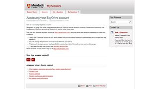 Accessing your SkyDrive account - MyAnswers
