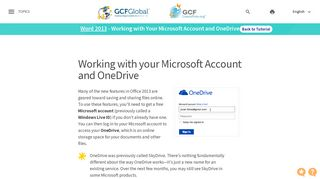Word 2013: Working with Your Microsoft Account and OneDrive