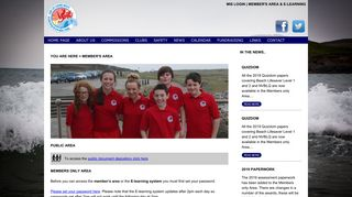 Member's area & E-learning - Welcome to SLSA Wales - Surf Life ...