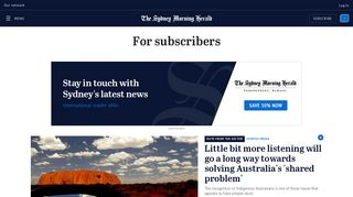 For subscribers | The Sydney Morning Herald