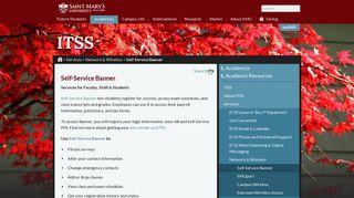 Saint Mary's University | Academics - Information Technology ...
