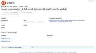 snapd-login-service 1.2-0ubuntu1.1 - Launchpad.net