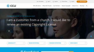CCLI — Christian Copyright Licensing International