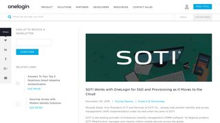 SOTI Works with OneLogin for SSO and Provisioning as It Moves to ...