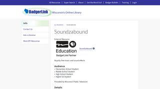 Soundzabound | BadgerLink