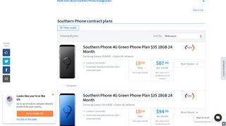 Southern Phone Mobile Plans Compared January 2019 | finder.com.au