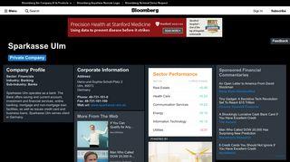 Sparkasse Ulm: Company Profile - Bloomberg