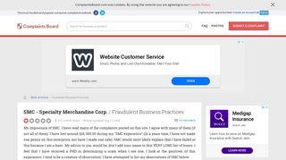 SMC - Specialty Merchandise Corp. - Fraudulent Business Practices ...