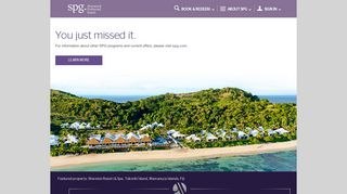 Starwood Preferred Guest - SPG More Nights, More Starpoints.