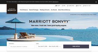 Starwood Hotels & Resorts   Book Hotels Online - Marriott Rewards