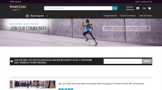 Join Our Community | Sport Chek