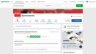 Sports Authority Employee Benefit: Employee Discount   Glassdoor