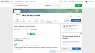 Sports Authority of India Employee Benefits and Perks   Glassdoor.co.in