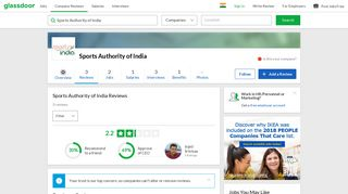 Sports Authority of India Reviews   Glassdoor.co.in