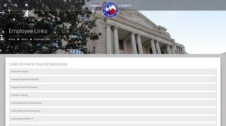 Employee Links   Harris County   Texas