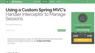 A Spring Handler Interceptor to Manage Sessions | Baeldung