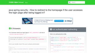 java - spring security redirect to login page if not authenticated - How ...