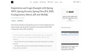 Registration and Login Example with Spring MVC, Spring Security ...