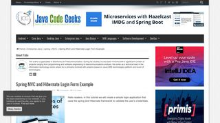 Spring MVC and Hibernate Login Form Example   Examples Java ...