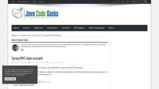 Spring MVC login example   Examples Java Code Geeks - 2019