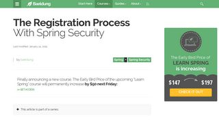 The Registration Process With Spring Security   Baeldung