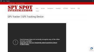 GPS Tracker   GPS Tracking Device - Spy Spot