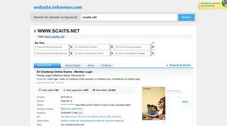 scaits.net at WI. Sri Chaitanya Online Exams - Member Login