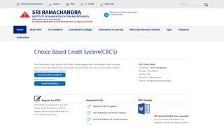cbcs - Sri Ramachandra Medical College