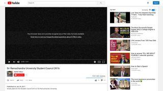 Sri Ramachandra University Student Council 2K16 - YouTube
