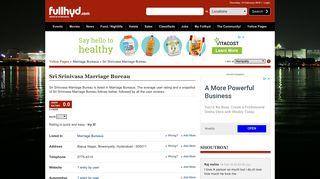 Sri Srinivasa Marriage Bureau, Bowenpally: Reviews, Telephone ...