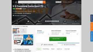 S S Corporate Securities LTD, Netaji Subhash Place Complex ...