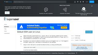 Default SSH user on Linux - Super User