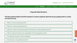 Secure payslip portal - frequently asked questions - SSLPost
