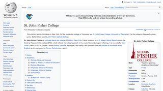 St. John Fisher College - Wikipedia